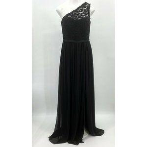 Davids Bridal 6 Bridesmaid Dress Black Lace F17063